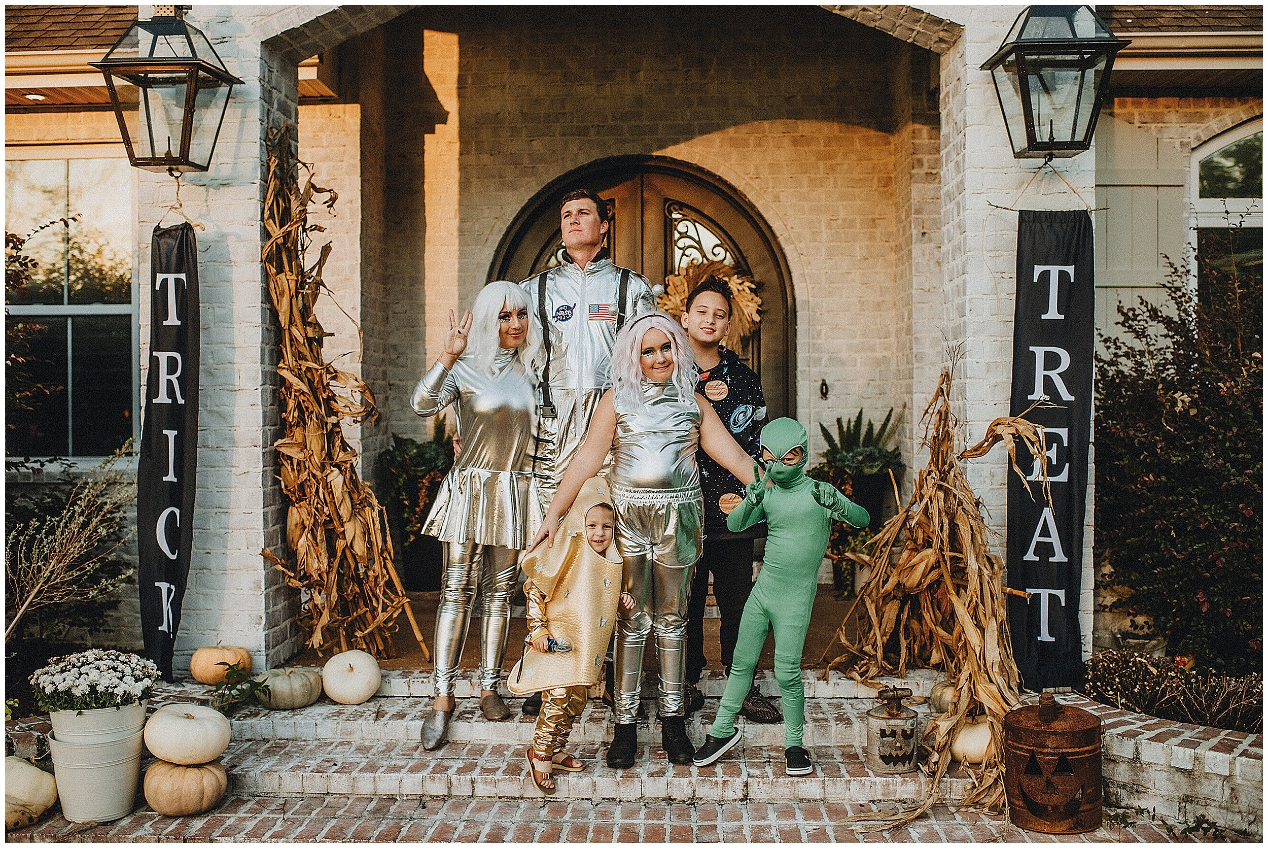 Halloween Family Costume 2020 space, alien and astronaut and star